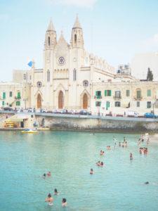 マルタ島首都バレッタの教会