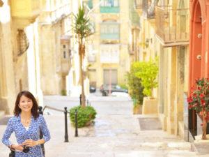 マルタ島を歩く溝端