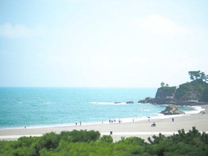高知・桂浜の浜辺